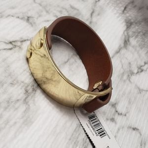 Express leather and gold bracelet ❤